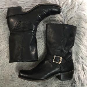 Frye moto engineer buckle boot 9 1/2 M leather